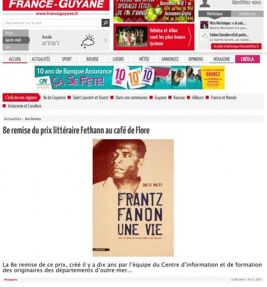 8e remise du prix littéraire Fetkann au café de Flore   Abonnement
