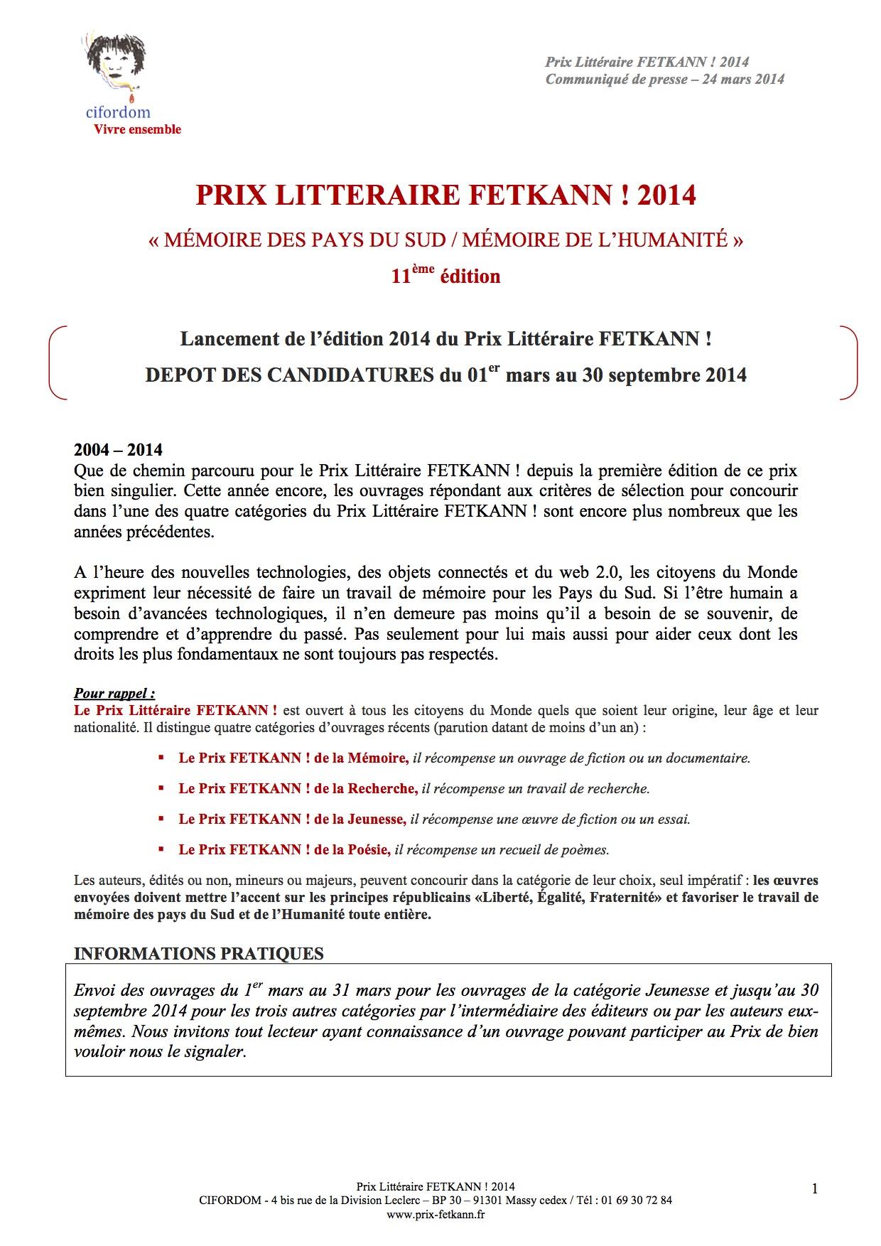 Lancement-de-l'édition-2014-du-Prix-Littéraire-FETKANN-DEPOT-DES-CANDIDATURES-du-01er-mars-au-30-septembre-2014-1
