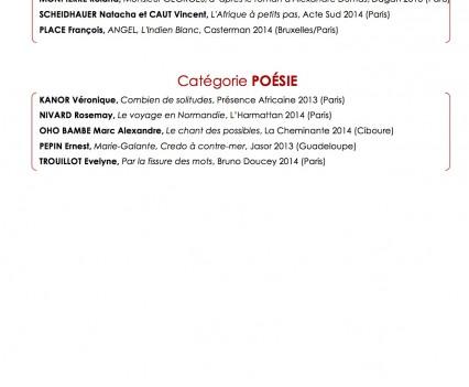 Annonce des lauréats Jeudi 20 novembre 2014 lors de la remise des prix au Café de Flore à Paris-2