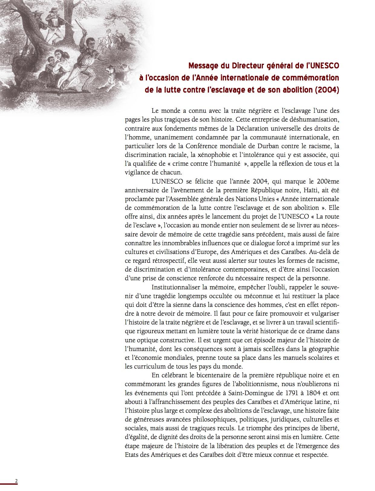 Unesco Luttes contre l'esclavage-2