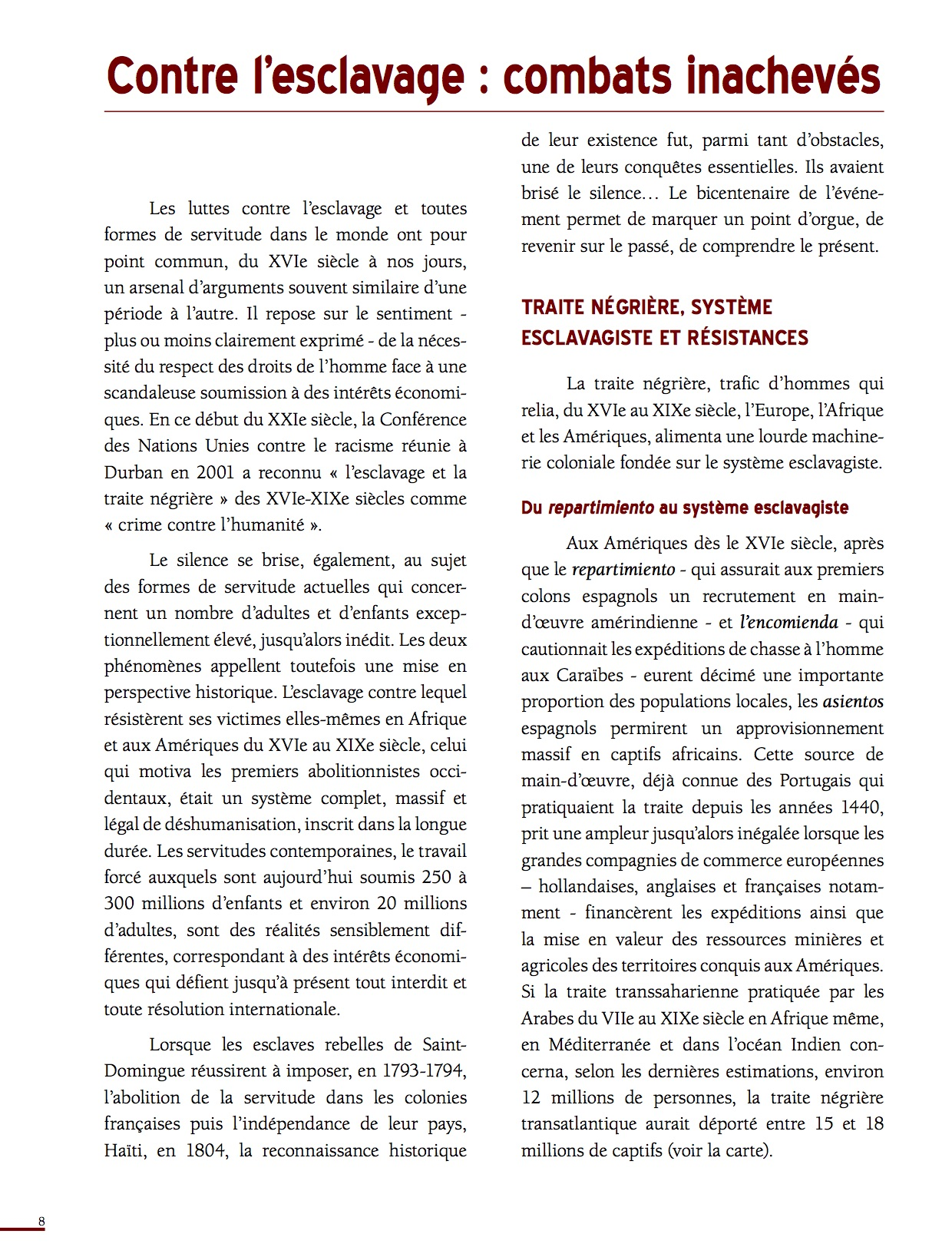 Unesco Luttes contre l'esclavage-8