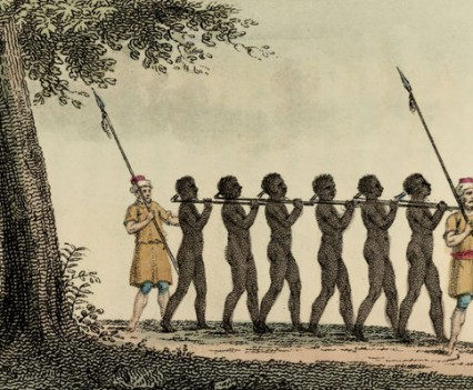 Gefangene Sklaven / Kupferstich - Captured slaves / Copper engraving, 1827 -