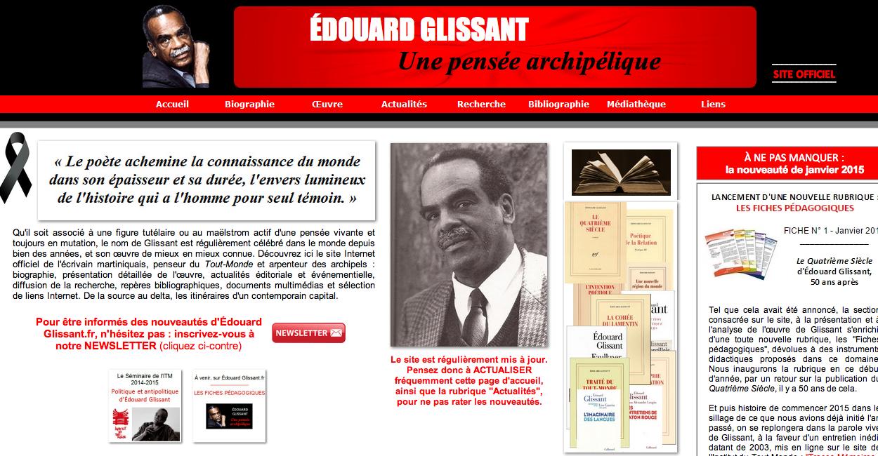 Site web Glissant